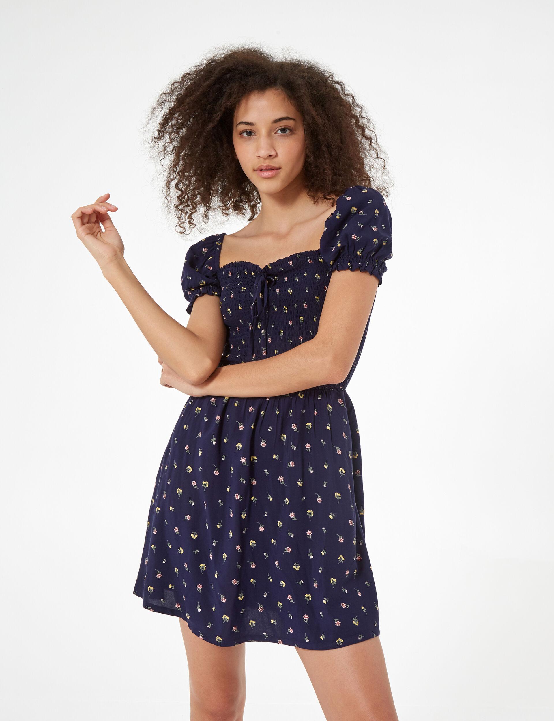 Floral smock dress