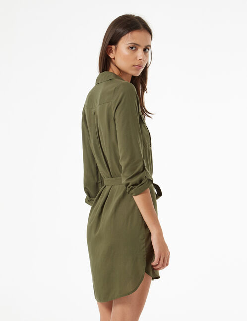 shirt dress with tie cord