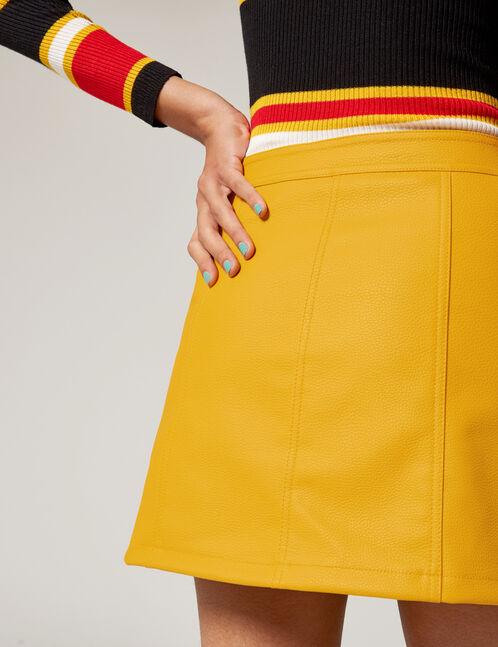 Ochre zipped skirt