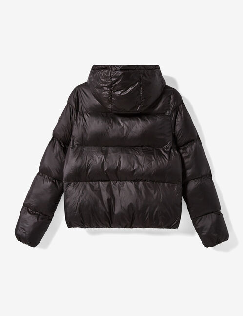 doudoune à capuche noire