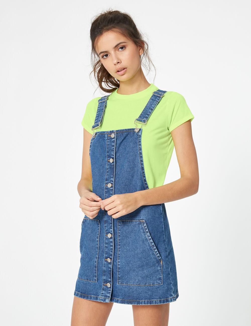 c87b00404e1f2 Robe chasuble en jean medium blue femme • Jennyfer