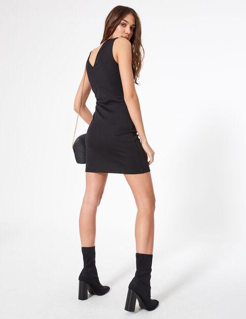 robe avec boutons noire