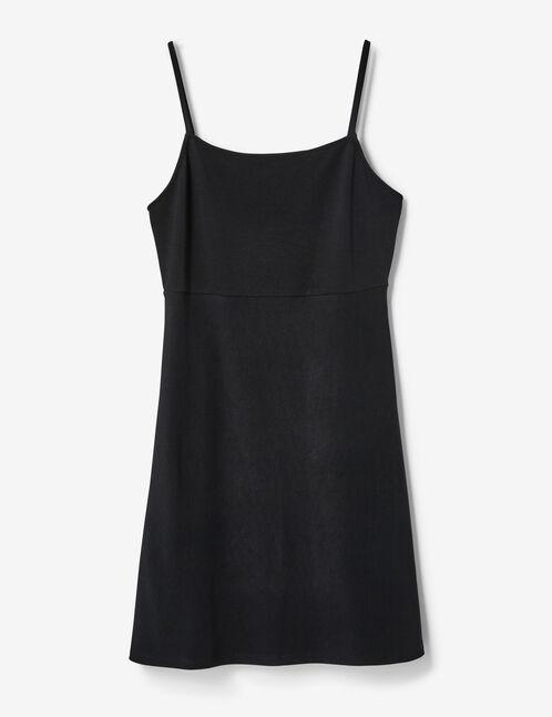 mini-robe texturée  noire