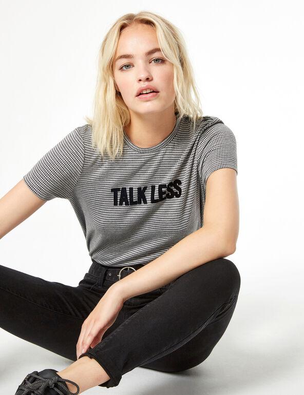 Top talkless pied-de-poule