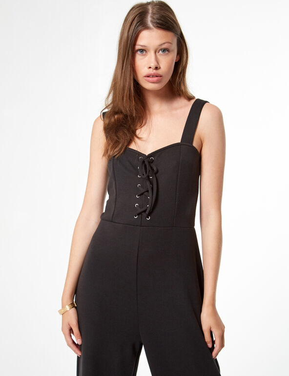 Jumpsuit with lacing