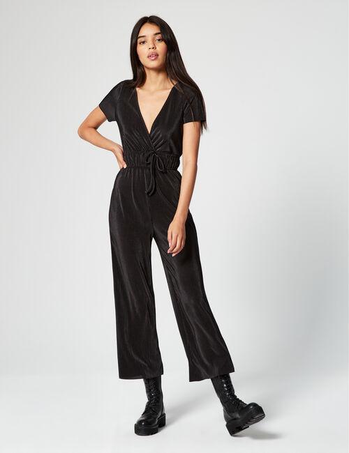 Crinkle-effect jumpsuit