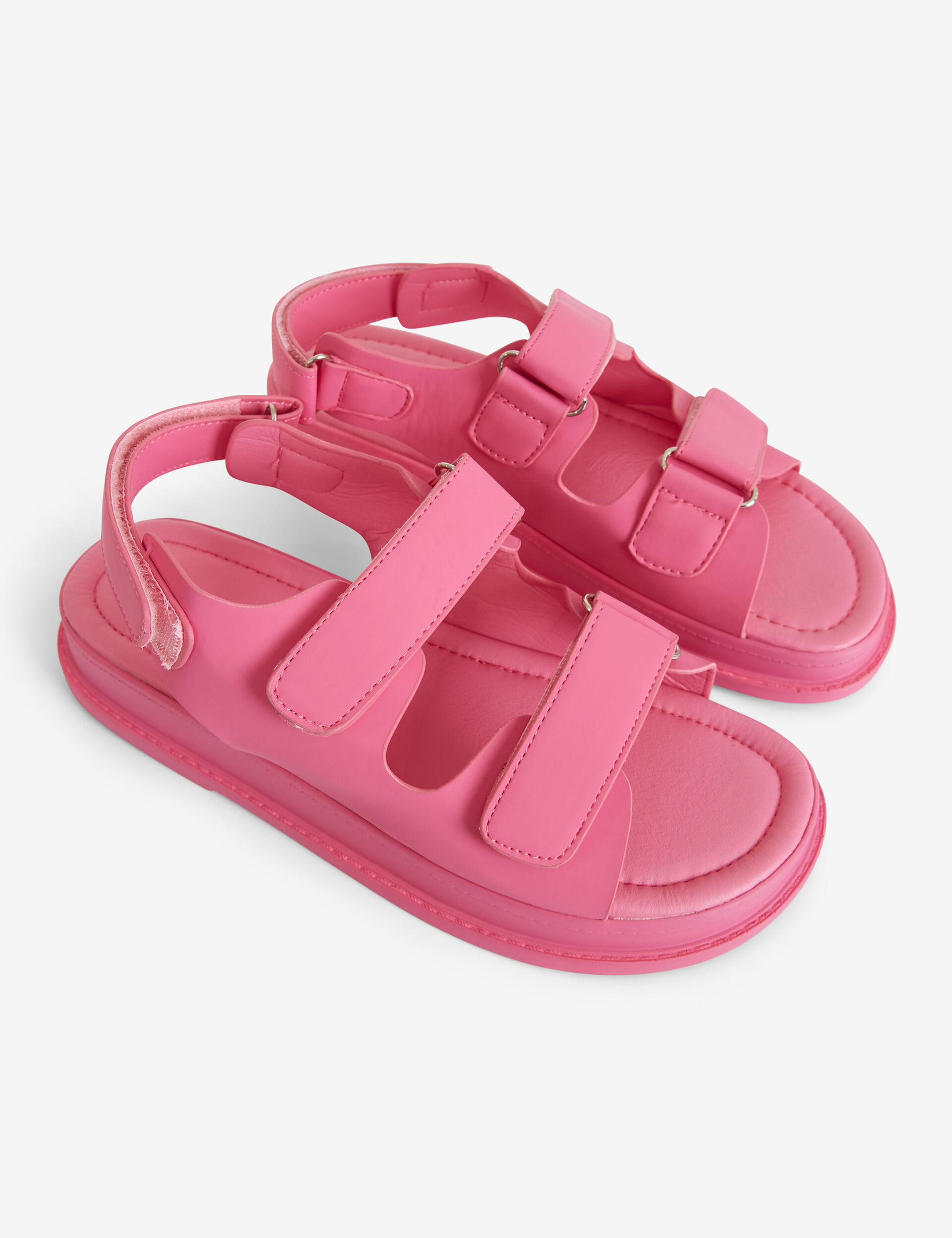 Imitation-leather sandals with Velcro