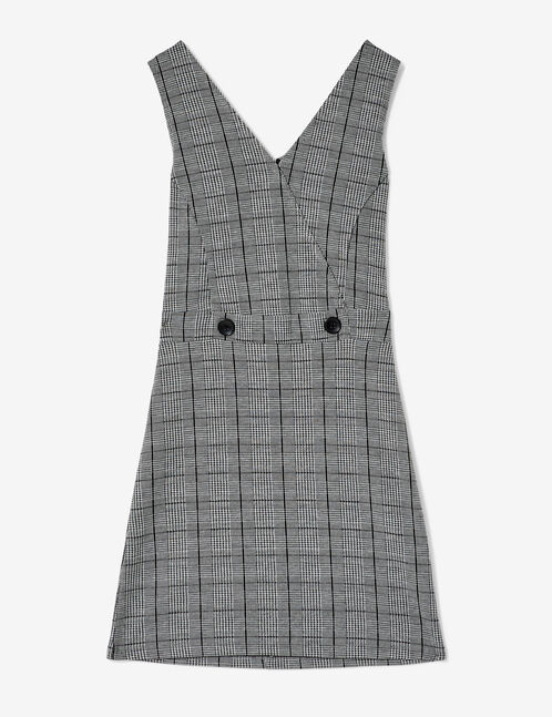 Grey and black glen check dress