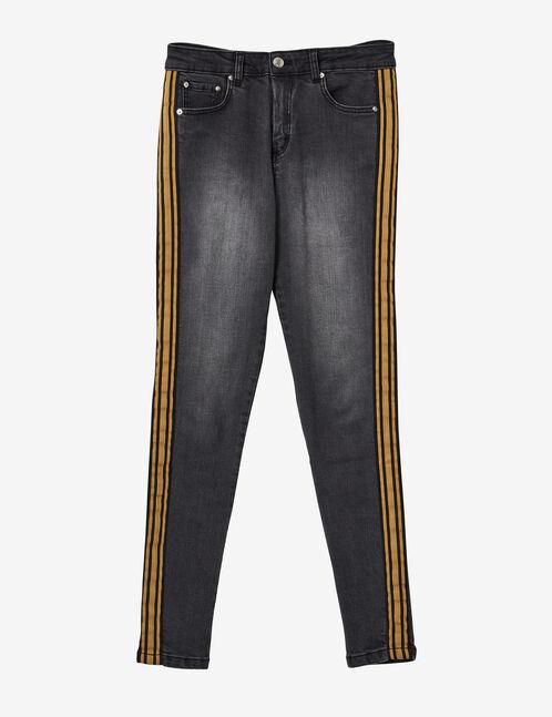 jean avec bandes côtés gris