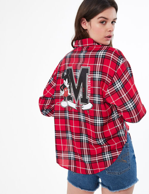 Disney Mickey Mouse checked shirt