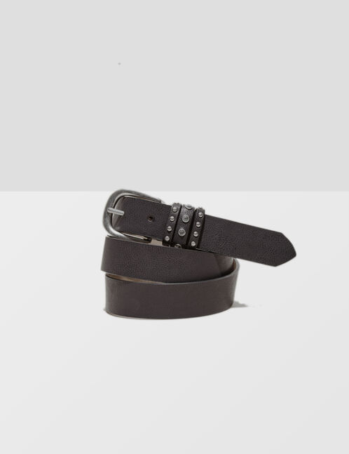 ceinture avec brides à clous noire