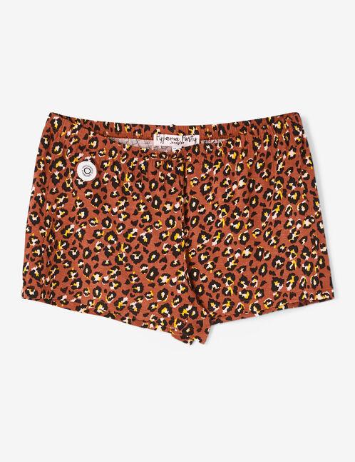 set pyjama léopard rouille