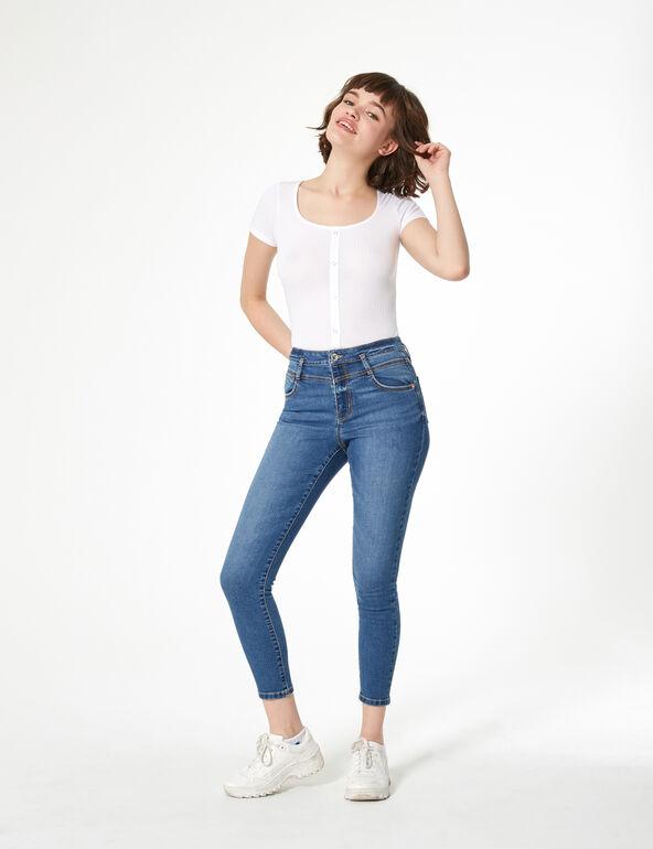 Rib-knit t-shirt