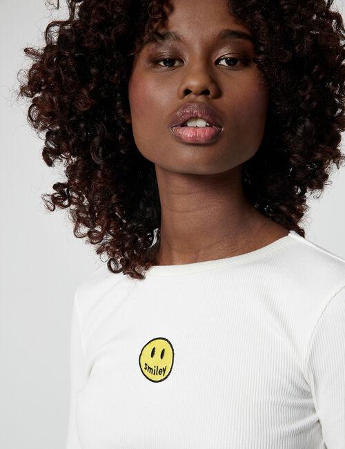 Ribbed Smiley T-shirt