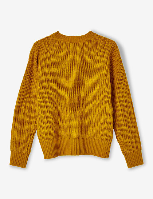 Ochre ribbed jumper