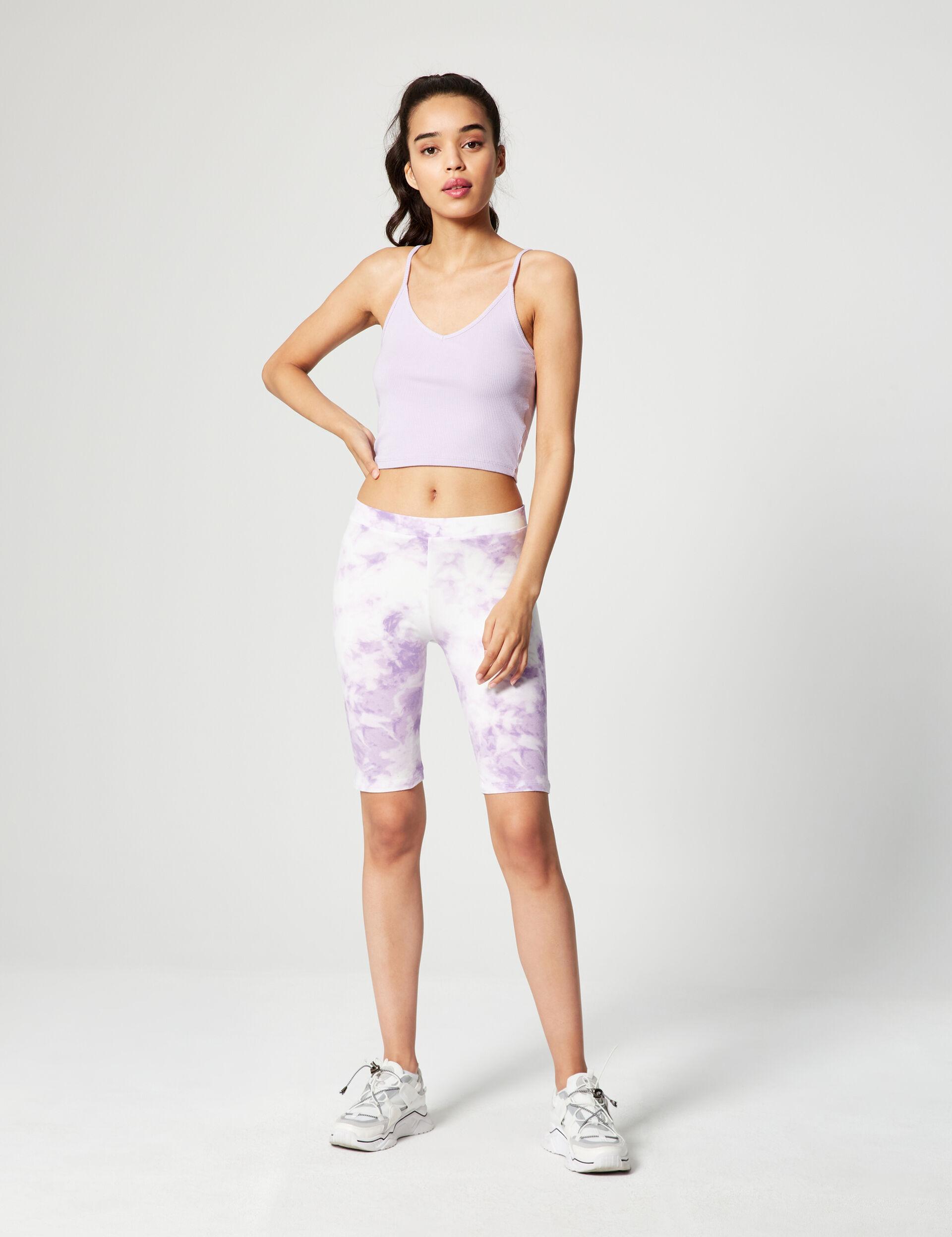 Tie-dye cycling shorts