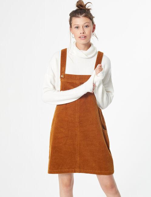 robe chasuble velours côtelé