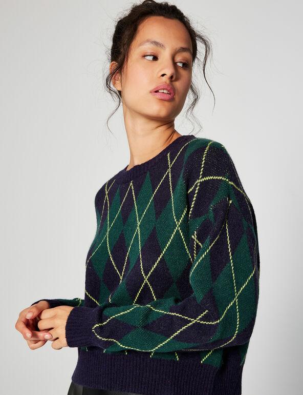 Loose fit printed jumper