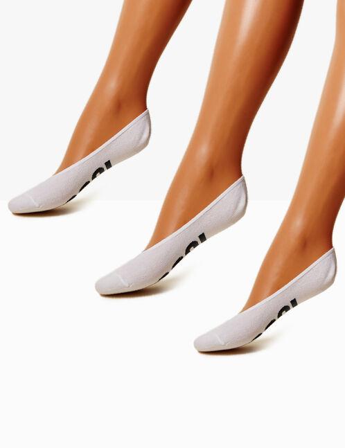 chaussettes à messages blanches