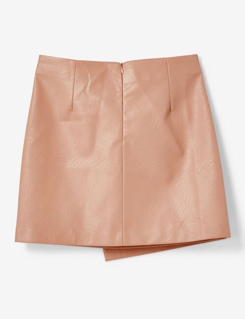 Light pink skirt with decorative zip detail