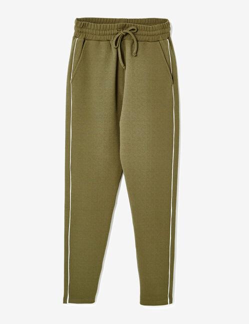 pantalon en crêpe kaki