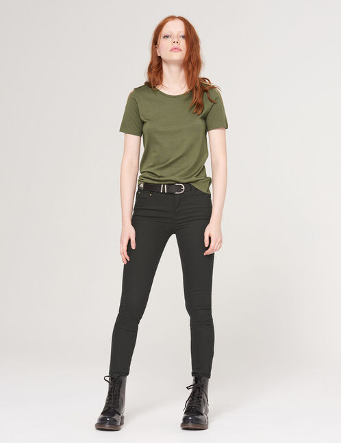 Black super skinny trousers
