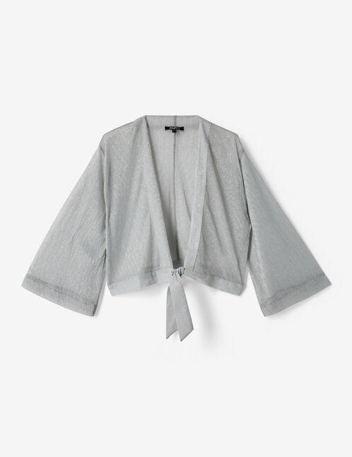 kimono court avec lurex argenté