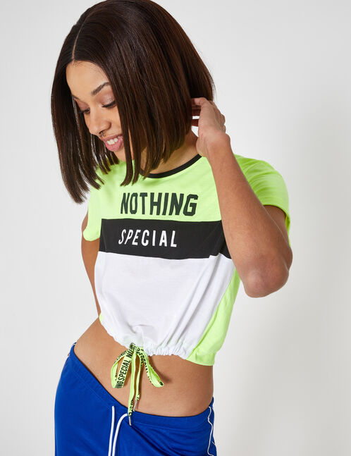 "Neon yellow ""nothing special"" T-shirt"