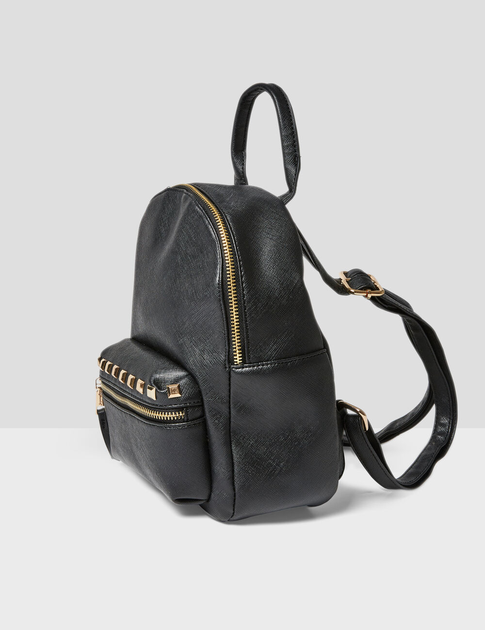 Small black backpack with stud detail woman • Jennyfer 1b7202bfbfd