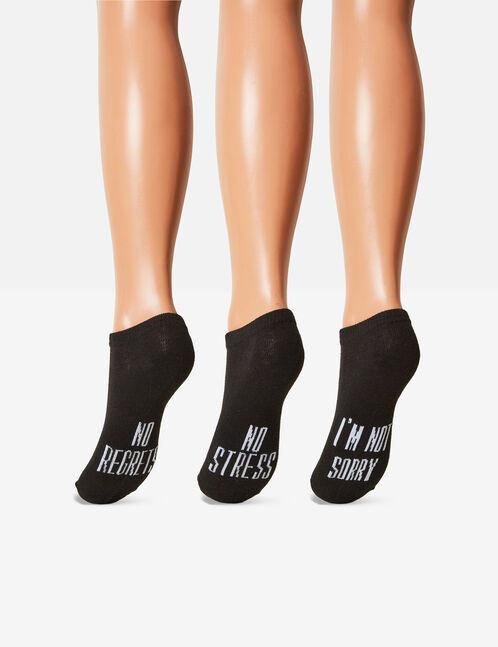chaussettes à messages noires