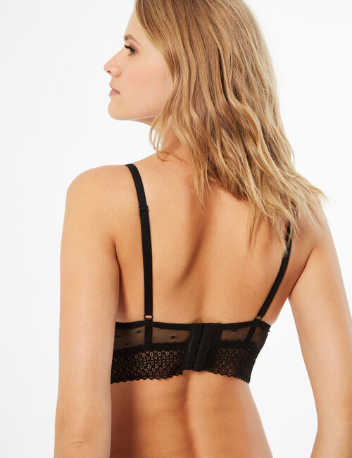 Swiss dot lace bra