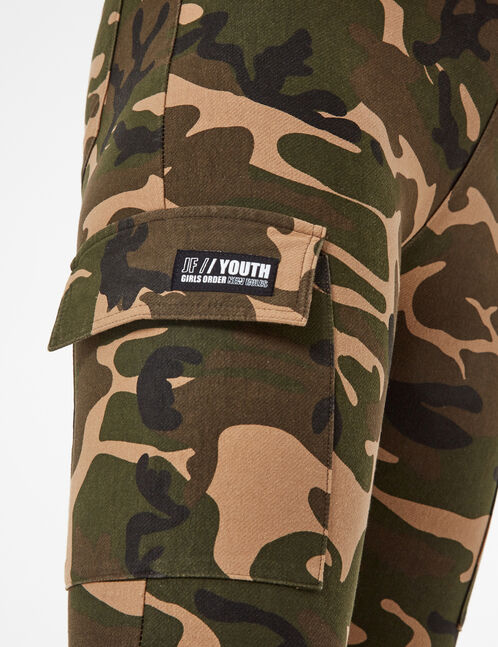 jogging camouflage cargo kaki