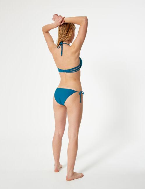 maillot de bain 2 pièces avec liens turquoise