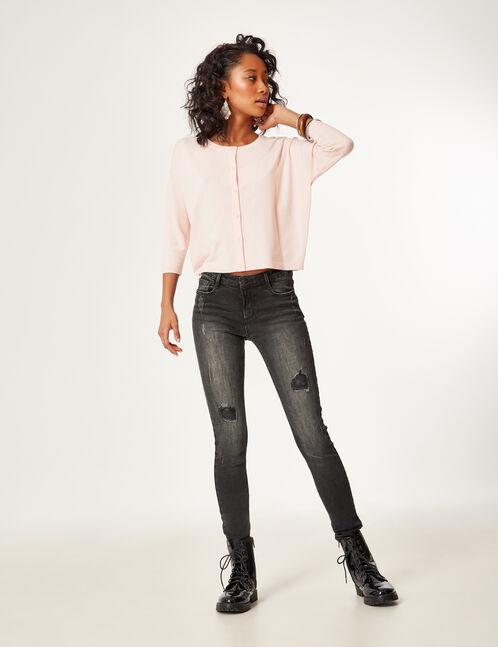 jean skinny taille basse noir