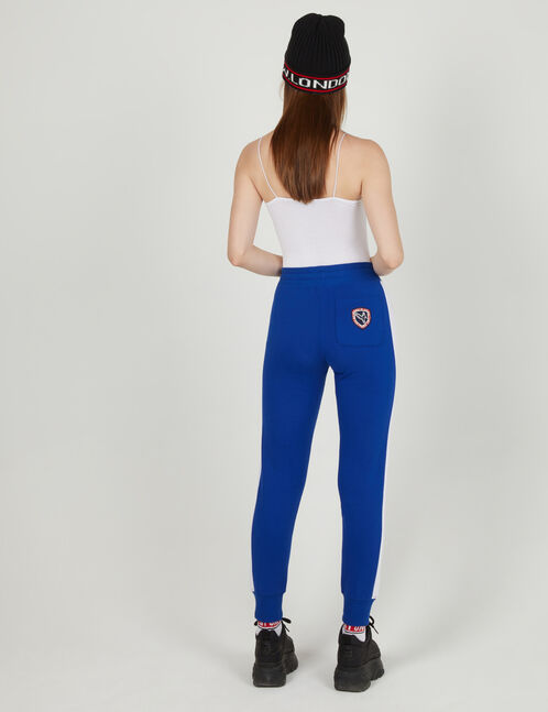 Blue joggers with side stripe detail