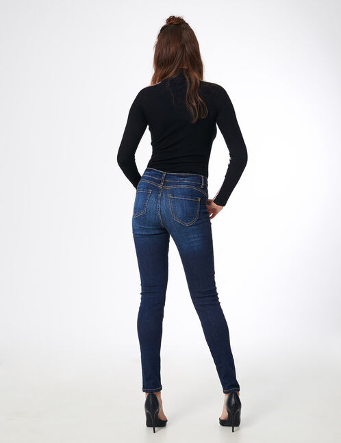 jean skinny push-up bleu foncé