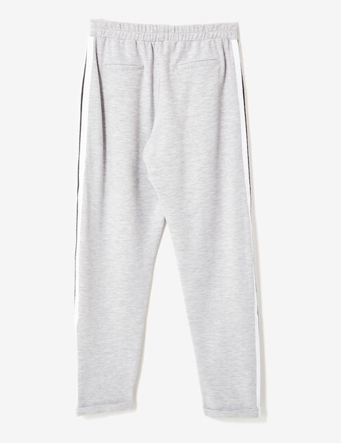 Grey marl pleated joggers