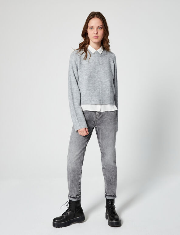 Braided cropped jumper