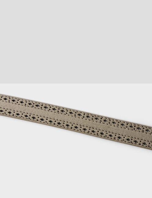 ceinture perforée dorée