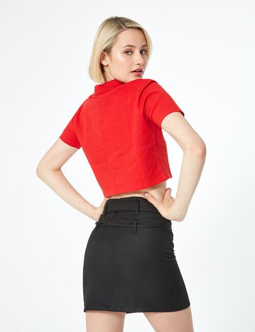 jupe zippée avec ceinture noire