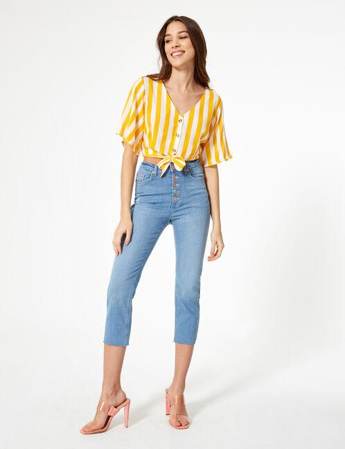 Light blue straight leg jeans