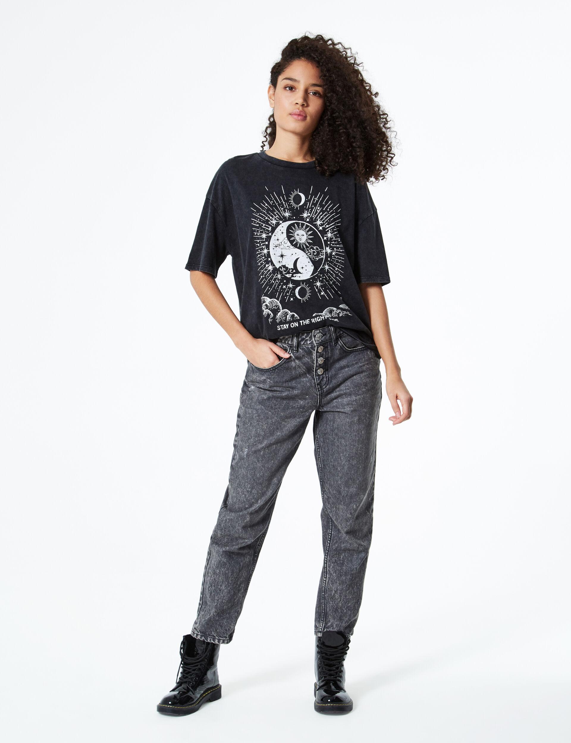 Astral motif T-shirt