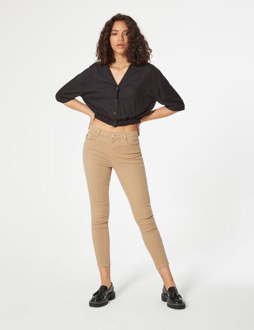 chemise col v