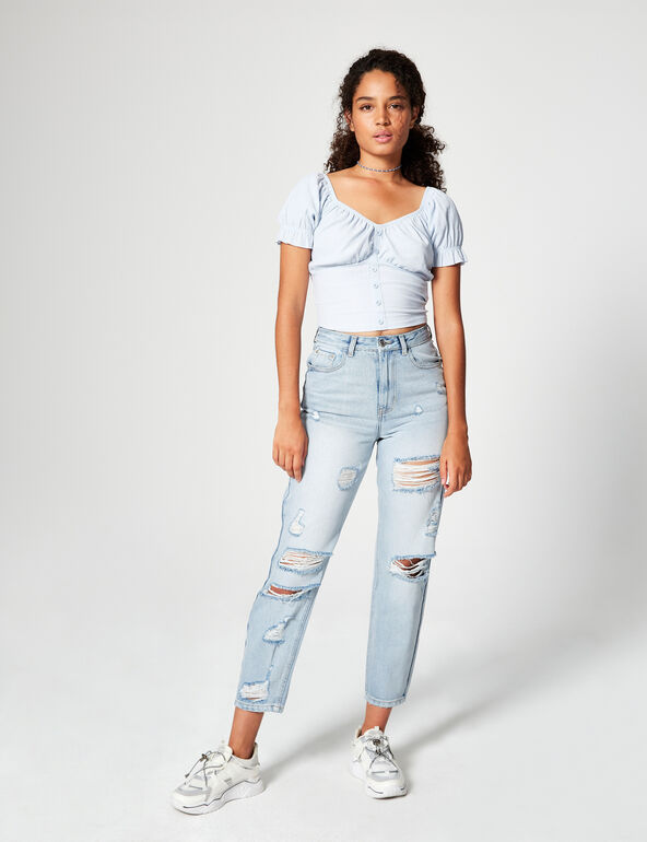 Cropped off-the-shoulder top