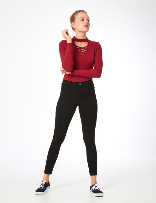 Black skinny push-up trousers