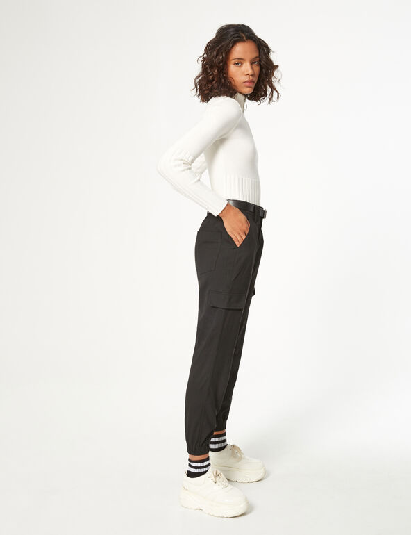 Striped cargo trousers