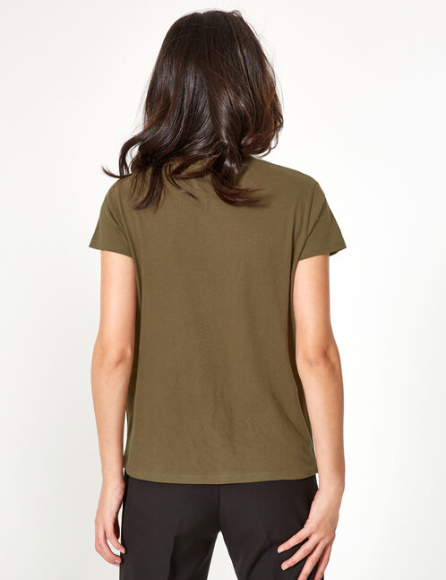 tee-shirt basic kaki