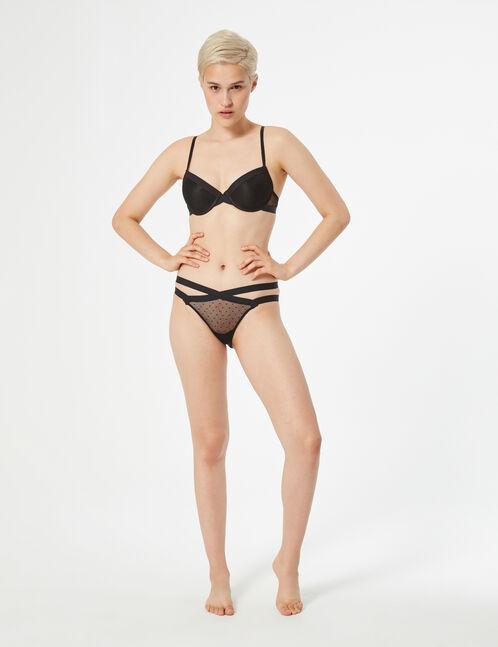 Swiss dot ladypants with waistband