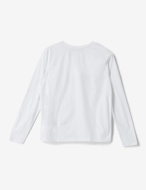set pyjama arc en ciel  blanc