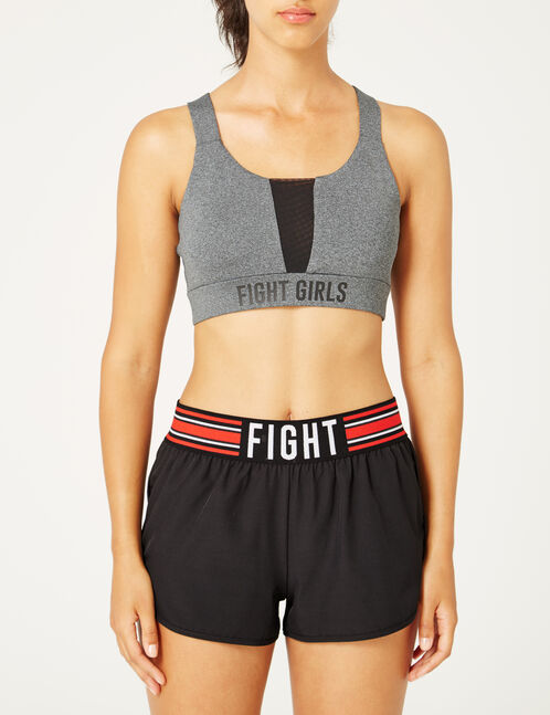 Charcoal grey mark fitness bra